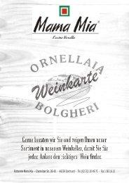 Weinkarte - Pizzeria