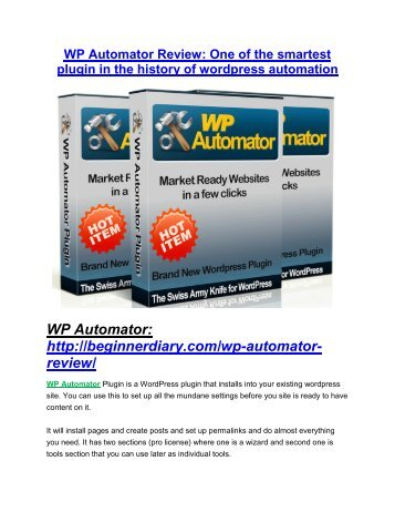 WP Automator review demo-- WP Automator FREE bonus