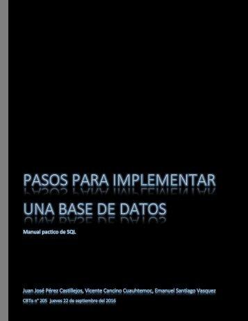 Pasos para implementar una base de datos