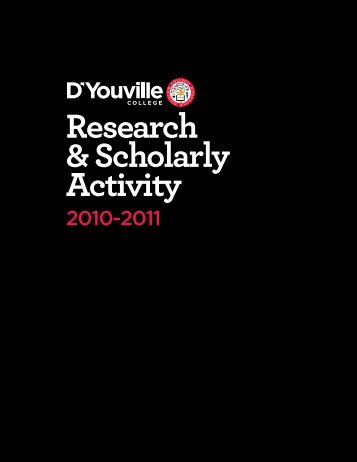 Research & Scholarly Activity - D'Youville College