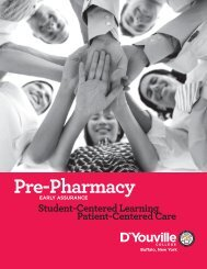 Pre-Pharmacy - D'Youville College