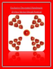 Exclusive Decorated Handmade 25 Diye Set For Diwali Festival