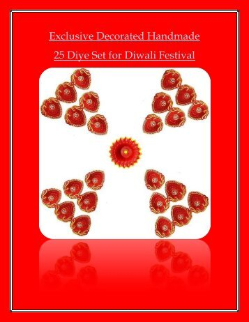 Exclusive Decorated Handmade 25 Diye Set For Diwali Festival