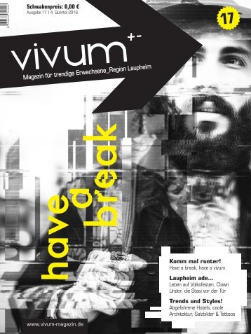 Vivum 17 | HAVE A BREAK