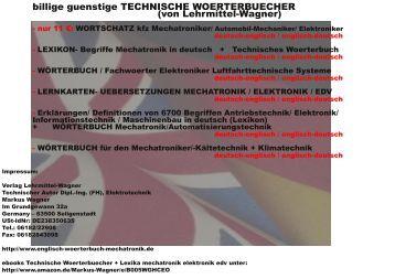 Fachwoerterbuecher deutsch-englisch (Uebersetzung automation kfz edv