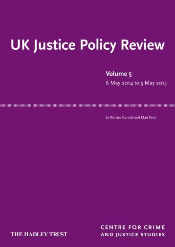 UK Justice Policy Review