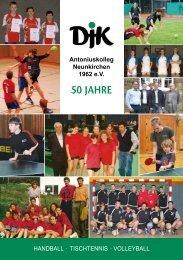 50 Jahre - DJK Antoniuskolleg Neunkirchen 1962 eV