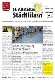 Altstätter Städtlilauf / Zeitung 2016