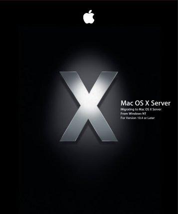 Apple Mac OS X Server v10.4 - Migrating from Windows NT - Mac OS X Server v10.4 - Migrating from Windows NT