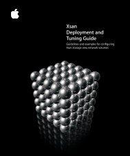 Apple Xsan 1.x Tuning Guide (Manual) - Xsan 1.x Tuning Guide (Manual)