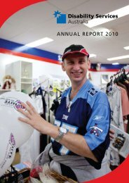 ANNUAL REPORT 2010 - Disability Services Australia