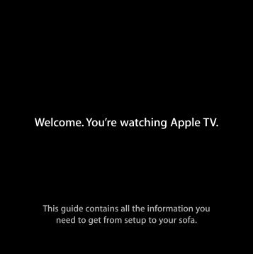 Apple Apple TV (1st generation) - Setup Guide - Apple TV (1st generation) - Setup Guide