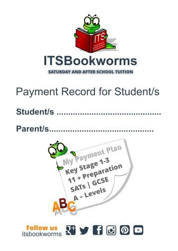 payment booklet