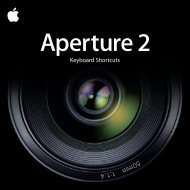 Apple Aperture 2 Keyboard Shortcuts - Aperture 2 Keyboard Shortcuts