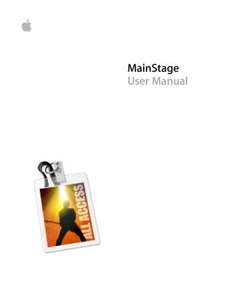 Apple MainStage User Manual - MainStage User Manual