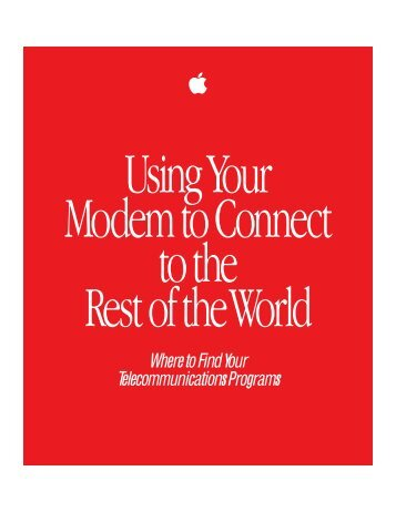 Apple Using Your Modem to Connect to the Rest of the World - Using Your Modem to Connect to the Rest of the World