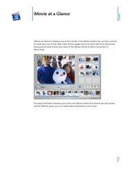 Apple iMovie at a Glance (Manual) - iMovie at a Glance (Manual)