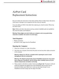Apple PowerBook G4 - AirPort Card Replacement Instructions - PowerBook G4 - AirPort Card Replacement Instructions