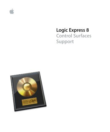 logic pro 8 control surfaces support support apple rh yumpu com Logic Pro Apple Logic Express