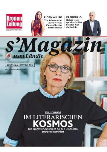 s'Magazin usm Ländle, 2. Oktober 2016