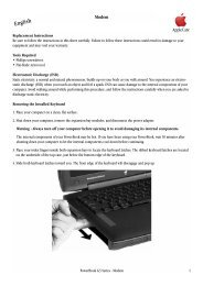 Apple PowerBook G3 Series - Modem Replacement Instructions - PowerBook G3 Series - Modem Replacement Instructions