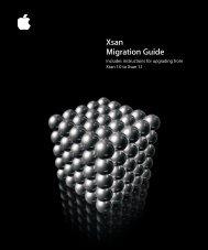 Apple Xsan 1.1 Migration Guide (Manual) - Xsan 1.1 Migration Guide (Manual)