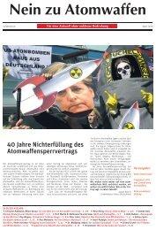 Nein zu Atomwaffen - Zukunft ohne Atomwaffen!