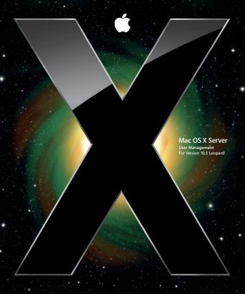 Apple Mac OS X Server v10.5 - User Management - Mac OS X Server v10.5 - User Management