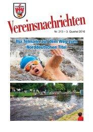 VfV Hildesheim - Vereinszeitung 3/2016