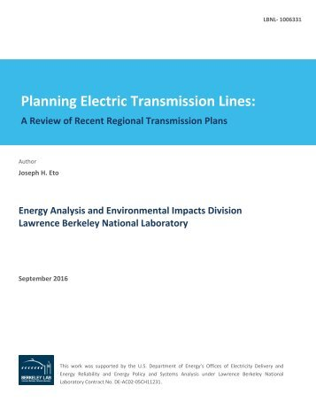 Planning Electric Transmission Lines
