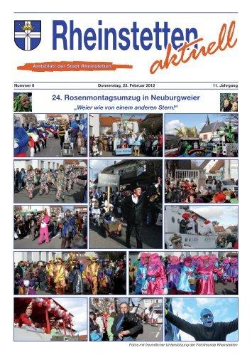 24. Rosenmontagsumzug in Neuburgweier - Stadt Rheinstetten