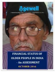 FINANCIAL STATUS OF OLDER PEOPLE IN INDIA - An ASSESSMENT