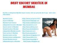 Best Escort service in Mumbai