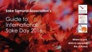 Guide to International Sake Day 2016