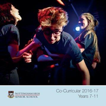 Co-Curricular 2016-17 Years 7-11
