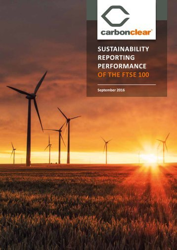 SUSTAINABILITY REPORTING PERFORMANCE OF THE FTSE 100