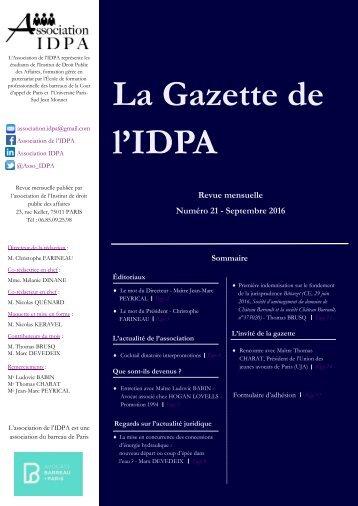 La Gazette de l'IDPA