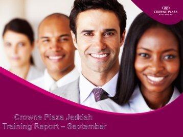 E-Training Report  September 2016