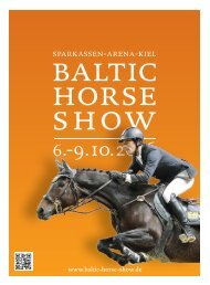 Baltic Hors Show 2016 - Info-Beilage Kieler Nachrichten