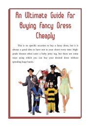 An Ultimate Guide For Buying Fancy Dress Cheaply