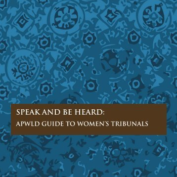 SPEAK AND BE HEARD