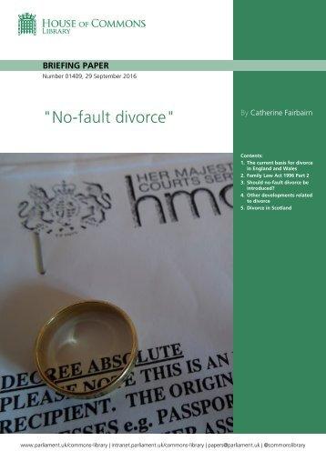"""""""No-fault divorce"""""""
