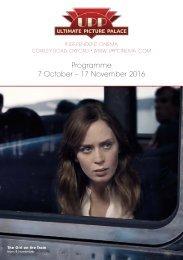 Programme 7 October – 17 November 2016