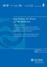 Zum Einfluss des Klimas auf den Bodensee - KLIWA