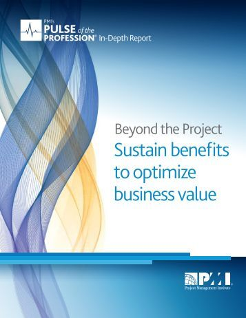 Sustain benefits to optimize business value