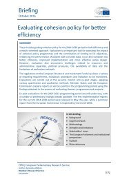 Evaluating cohesion policy for better efficiency