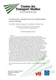 Car fleet policy evaluation the case of a Bonus-Malus system in Sweden