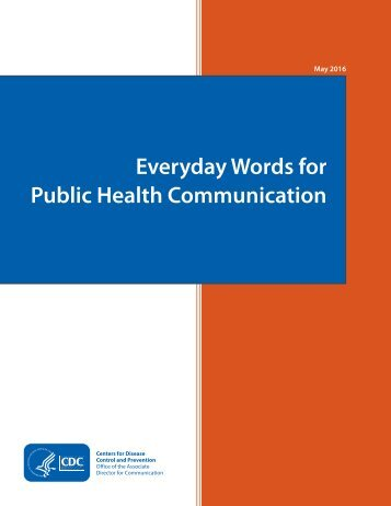Everyday Words for Public Health Communication