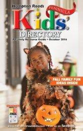 Hampton Roads Kids' Directory Peninsula Edition: October 2016