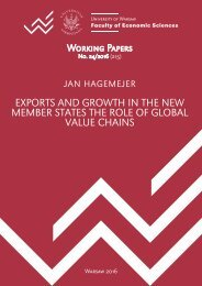 EXPORTS AND GROWTH IN THE NEW MEMBER STATES THE ROLE OF GLOBAL VALUE CHAINS